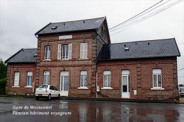 Gare De Woincourt , Somme , L'ancien Bâtiment Voyageurs - Une Photo Reproduit Carte Postale  10x15 Cm. - Stations Without Trains