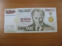 AC - TURKEY - 7th EMISSION 5 000 000 TL D UNCIRCULATED - Turquie