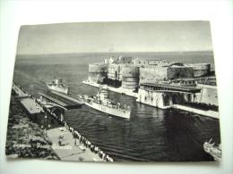 TARANTO   NAVE  I     SHIP   MARINA  MILITARE  WARSHIP  VIAGGIATA COME DA FOTO  BOLLO RIMOSSO - Guerra