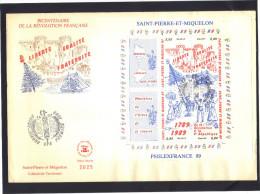 Saint Pierre Et Miquelon . FDC Saint Pierre 1989 . Bloc Philexfrance 89 . - Ohne Zuordnung