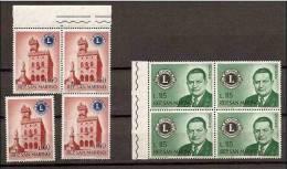 1960 San Marino Saint Marin LIONS CLUB  60L (x4) + 115L (x4) MNH** - Rotary, Lions Club