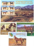 2001. Turkmenistan, Akhai Teke Horses, 4 S/s, Mint/** - Turkménistan