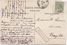 TP 56 S/CP Bateau ´de Smet De Naeyer´ C.Bruxelles(Midi) 23/6/1906 + Griffe Encadrée Bierghes V.Brugelette PR2897 - Postmark Collection