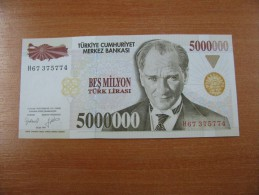 AC - TURKEY - 7th EMISSION 5 000 000 TL H UNCIRCULATED - Turquie
