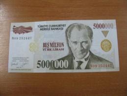 AC - TURKEY - 7th EMISSION 5 000 000 TL N UNCIRCULATED - Türkei