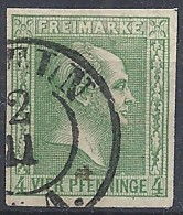 Prussia - 1856 King Frederick IV, 4pf Green, Background Of Crossed Lines Unwmk # Michel 5 - Scott 9 - Yvert 9 USED - Preussen