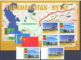 2010. Turkmenistan, Gazmain Turkmenistan-China, 2v + S/s, Mint/** - Turkménistan