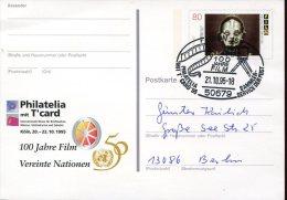 6479  Germany, Special Postmark On Special Stationery Card 1995 Koln - Film, Movie, Cinema, Circuled Card
