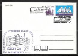 Poland 1985 Szczecin Ship Cancel, Sailing Ship Stamp, Cachet - 1944-.... Republic