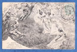 """CPA - ROUEN - Alhambre Théatre - """" Le Pomme """" Détail Du Panneau Décoratif D' Eugène Delabarre - 1907 - Rouen"""