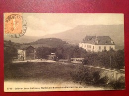 74 Haute Savoie SALEVE Hotel Bellevue Station De Monnetier Mairie Et Les Voirons (tramway) - France