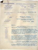 VP3563 - PARIS X LEVALLOIS PERRET - Lot  De Documents Concernant La Cie BRITISH AMERICAN TABACCO & IMPERIAL TABACCO Cie - Documenten
