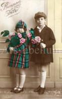 Postcard / CP / Postkaart / Girl / Fille / Boy / Garçon / Ed. Guy / No 160 / 1927 - Grupo De Niños Y Familias