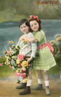 Postcard / CP / Postkaart / Girl / Fille / Boy / Garçon / K. V. I. B. 12. / Serie 1805 / 1908 - Grupo De Niños Y Familias
