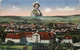 - Moselle - Ref - 57361 - Chateau Salins - Vue Generale - Montage Photographique Lorraine - Surreaslisme - - Chateau Salins