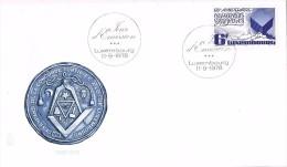 17239. Carta F.D.C. LUXEMBOURG 1978. Mason. Masonic Arms - FDC
