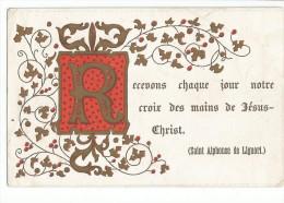 Image Pieuse Religieuse Holy Card Santini Illustration Au Dos Notre Dame D´Aiguebelle - Santini