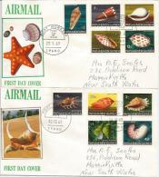 PAPUA NEW GUINEA/PAPOUASIE.UNIVERSAL. Série Coquillages Sur 2 Lettees FDC's Adressée En Australie - Coquillages