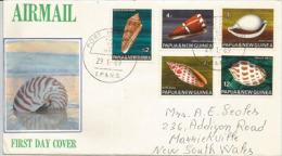 PAPUA NEW GUINEA/PAPOUASIE.UNIVERSAL. Coquillages Sur Lettee FDC  Adressée En Australie - Papouasie-Nouvelle-Guinée
