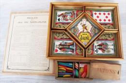 Jeu De Nain Jaune Ancien - 1921 - Très Bel état, Avec Une Boite De Jetons Os Et Plastique. - Group Games, Parlour Games