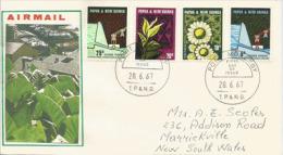 PAPUA NEW GUINEA/PAPOUASIE.UNIVERSAL. L'agriculture Et La Culture Du Thé En Papouasie.Lettre FDC Adressée En Australie - Agriculture