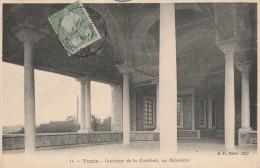 Tunis - Interieur De La Koubbah Au Belvedaire  - Scan Recto-verso