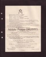 GAND MONT-SAINT-AMAND Adolphe DRUBBEL Chanoine Saint BAVON 1851-1926 Doodsbrief - Todesanzeige