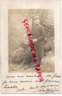 GUERRE 1914-1918- MILITARIA-  CARTE PHOTO MILITAIRE CYCLISTE- BICYCLETTE- VELO - Guerre 1914-18