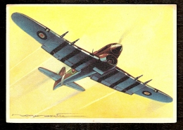 LOT 2 CPA ILLUSTRÉES SIGNÉES- FRANCE- AVIONS DE COMBATS- NORTH AMERICA MUSTANG + HAWKER TYPHOON- 2 SCANS - Guerre 1939-45