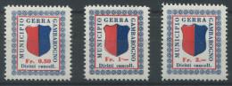 983 - GERRA GAMBAROGNO Fiskalmarken - Fiscaux