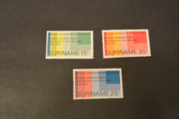 F7209- Set MNH Suriname 1975- SC. 421-423- INt. Meter Convention - Suriname