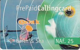 CURACAO - Earth & Sea Prepaid Card NAf. 25, Used - Antilles (Netherlands)