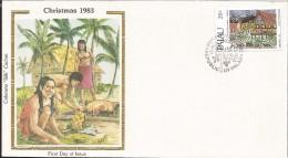 E)1983 PALAU, CHRISTMAS, TRADITIONAL FEAST AT THE BAI, PEOPLE, INDIANS, FDC - Palau