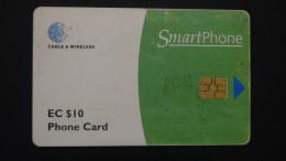 Antigua & Barbuda - EC $10 - Cable & Wireless - MV:Ant- C1 - Used - Look Scans - Antigua And Barbuda