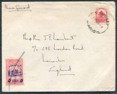 Lebanon Provisional Overprint Cover - Leicester, England - Lebanon