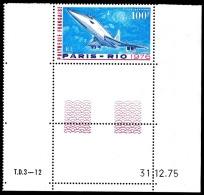 POLYNESIE 1976 - Yv. PA 103 ** SUP Cdf Daté  Cote= 22,00 EUR - Avion Concorde : 1er Vol Commercial ..Réf.POL22843 - Poste Aérienne