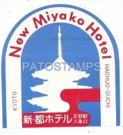 34222 JAPAN KYOTO HOTEL NEW MIYAKO LUGGAGE NO POSTAL POSTCARD - Hotel Labels