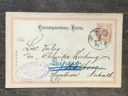 E21 Österreich Austria Autriche Ganzsache Stationary Entier Postal Mi. P 74 Von Wien Nach Köthen Dann Leipzig - Ganzsachen