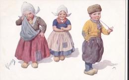 AL21 Artist Signed Feiertag - Dutch Children - Feiertag, Karl