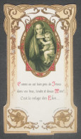 IMAGE PIEUSE BONAMY Pl 426 (chromo Vers 1910) VIERGE A L'ENFANT COMME ON EST BIEN PRES DE JESUS .... / SANTINO - Images Religieuses