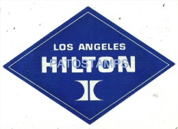34247 US LOS ANGELES HOTEL HILTON LUGGAGE NO POSTAL POSTCARD - Hotel Labels