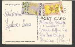SPE15--- POSTAL YSTORY,  BARBADOS--- BOLOGNA,  ITALIA, - Barbados (1966-...)