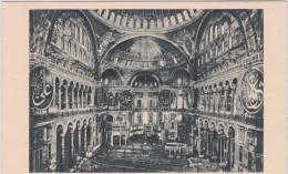 Turquie :  CONSTANTINOPLE  :  Int.   De  Sainte  Sophie - Turquie