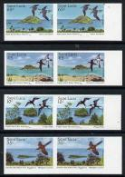 S. Lucia 1985, Natural Reserves, Birds, 4val IMPERFORATED In Pair - St.Lucia (1979-...)