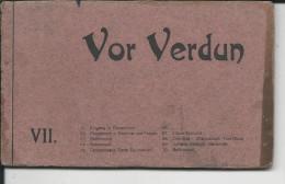 VOR VERDUN   CARNET DE 10CARTES    DE  VILLAGES DETRUITS GUERRE 1914-18 - Francia