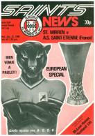 Programme Football 1980 1981 St Mirren (Scotland) V ASSE Saint Etienne (France) UEFA Cup - Libros