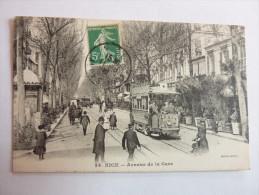 NICE - Avenue De La Gare - Straßenverkehr - Auto, Bus, Tram