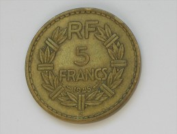 5 Francs Lavrillier 1945 C *****  EN ACHAT IMMEDIAT  ***** - J. 5 Francs