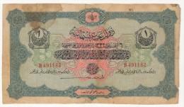 TURQUIE,TURKEI,TURKEY OTTOMAN 1 LIVRES 1332-1916 USED - Turkije