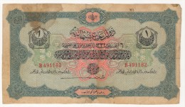 TURQUIE,TURKEI,TURKEY OTTOMAN 1 LIVRES 1332-1916 USED - Turquie